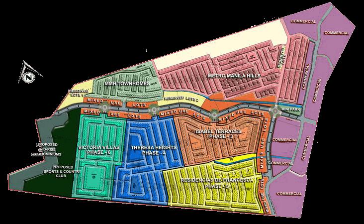 Metro Manila Hills Map