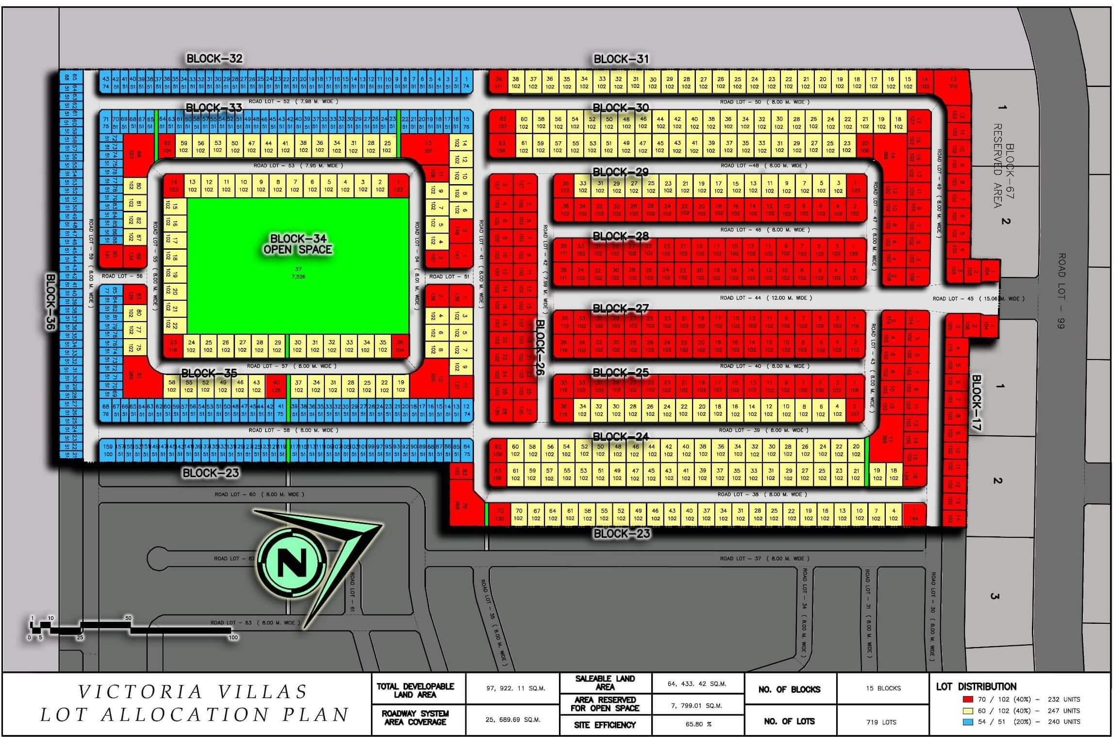 Victoria Villas Lot Map