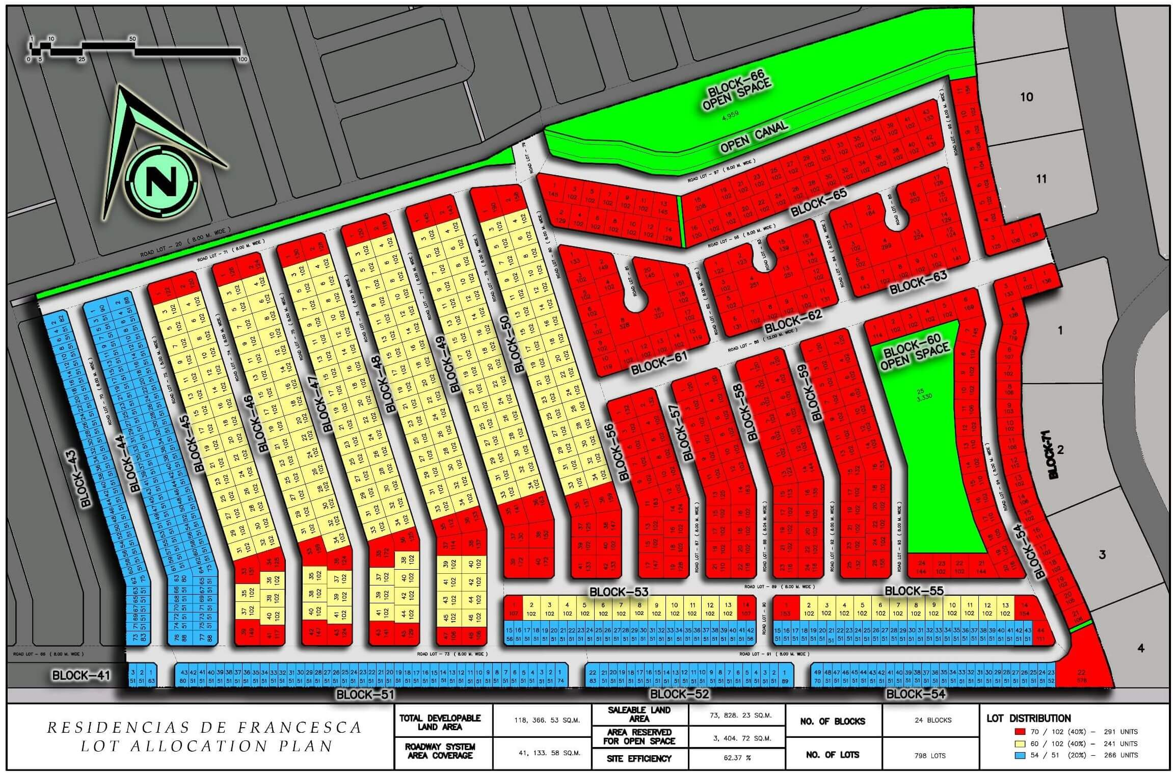 Residencias de Francesca Lot Map