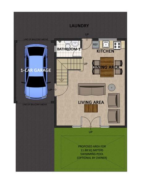 Residencias de Francesca Single Detached Floorplan 1