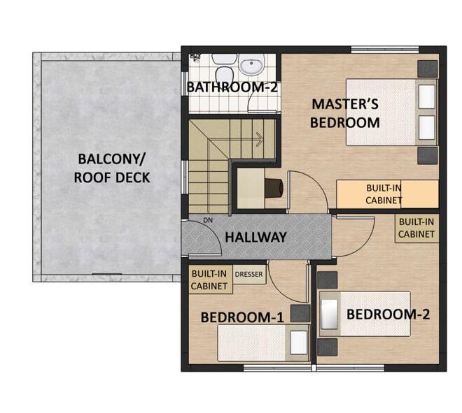 Residencias de Francesca Single Detached Floorplan 2