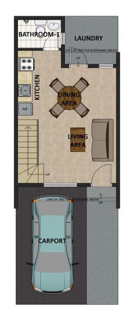 Residencias de Francesca Townhouse Floorplan 1