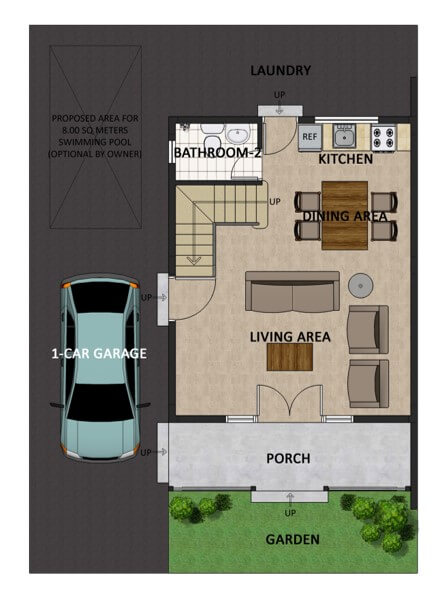 Theresa Heights Single Detached Floorplan 1