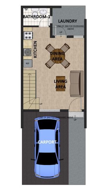 Theresa Heights Townhouse Floorplan 1