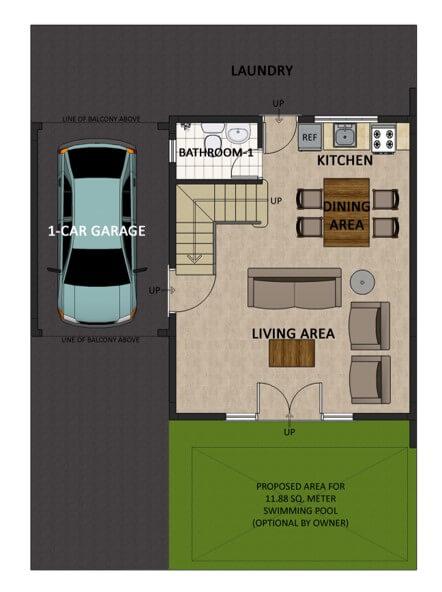 Victoria Villas Single Detached Floorplan 1