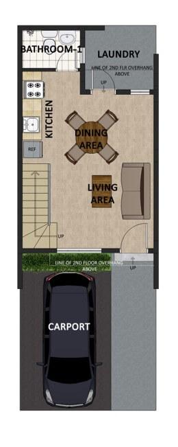 Victoria Villas Townhouse Floorplan 1